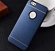 2 en 1 de metal cepillado caso duro para iPhone6 (colores surtidos)