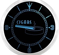 Cigars Bar Pub Club Cigarette Shop Neon Sign LED Wall Clock