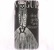 Vogue Dead Girl Pattern Hard Case for iPhone 6