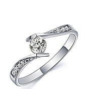 I FREE SILVER®Women's Fashion S990 Sterling Silver Mosaic Zircon Rings 1 pc