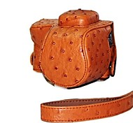 Dengpin® Leather Camera Case Bag Cover Ostrich Pattern for Sony NEX-5R NEX-5T 5R 5T with 16-50mm or 2.8/16 Lens