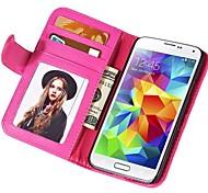 soft touch cassa di cuoio dell'unità di elaborazione per mini Samsung Galaxy s5