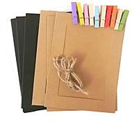 6-Zoll-Bilderrahmen hängen Papier mit Clip und Seil [10 in 1]