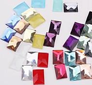 Z&X®  10*14MM 50 PCS DIY Candy Color Square Flatback(Random Color)