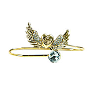 Fashion Stone Set Angel Palm Bangle