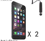 anti-éblouissement finition mat protecteur d'écran avec un stylo stylet tactile pour iPhone 6 plus (2 pcs)
