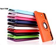 PU-Leder Schutz drehbar&Standplatz für Samsung Tab t330