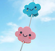 Cute Cloud Cartoon Earphone Cable Wire Cord Organizer Cable Winder
