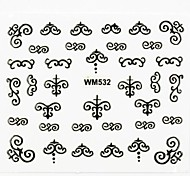 3D Nail Accessory False Nail Art Stickers Decals Metal Tool Style for Nail Tips DIY Nail Art Decorations