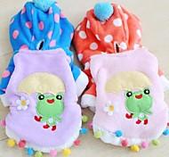 Mode für Haustiere schönen bunten Frosch Baumwolle gefütterte Jacke für Haustiere Hunde (verschiedene Farben, Größen)