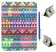 For Samsung Galaxy Case with Stand / Flip / 360° Rotation Case Full Body Case Lines / Waves PU Leather Samsung Tab 3 10.1