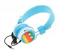 wzs- casque stéréo salut-fi ergonomique avec microphone micro - bleu