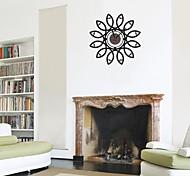 zooyoo® elektronischen Batteriezeitnehmer diy Blumenform Wanduhr Wandaufkleber Wandaufkleberausgangsdekor für Zimmer