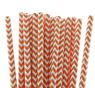 Eco-Friendly Lovely Chevron Paper Straws 18 Colors Paper Drinking Straws for Halloween Christmas Party  (25 PCS)
