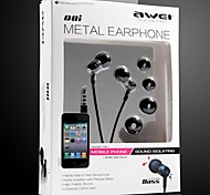 AWEI Q8i  3.5mm In-Ear Earphones With MIC 3 Accessories for Samsung Phones (Assorted Colors)
