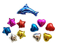 11 PCS Aluminium Membrane Baby Shower Birthday Party Balloon(5 Star & 5 Heart & 1 Dolphin)