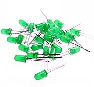 5mm LED Light Emitting Diodes for Arduino Test - Green (20 PCS)