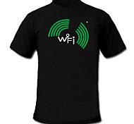 Sound und Musik aktiviert Spektrum VU-Meter el Visualizer T-Shirt (2 * AAA)
