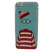 A Beautiful Hat Glasses Plastic Hard Back Cover for iPhone 6