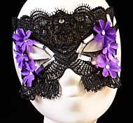 cristal flor do vintage máscara dança rendas