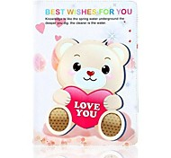 Love You Bear Pattern Leather Full Body Case with Stand for Apple iPad Air
