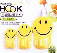 3 PC multifuncionales sonríen gancho familia encantadora (color al azar)