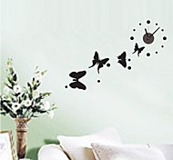 ZOOYOO® Vintage Style Electronic battery Butterfly and timekeeper shape wall sticker home decor for you room