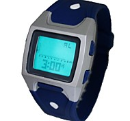 Men's Alarm Clock Multi-Functional Sporty Digital Silicone Band Wrist Watch(Assorted Colors)