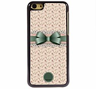 Personalized Gift Lovely Bowknot and Flower Design Metal Case for iPhone 5C