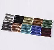 Z&X®  5*15MM 100 PCS DIY Colorful Decorative Glass Rhinestone Flatback(Random Color)