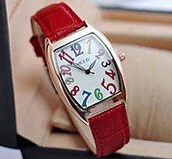 Women's Fashion Square Color Figures Watches(Assorted Colors)