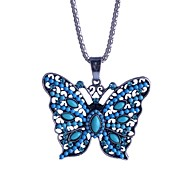 Lureme®Crystals Measle Colorful Butterfly Pendant Necklace