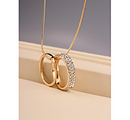 Fashion Round Ring Necklace for Women in Jewelry Gift