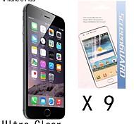 [9-pack] Protector de pantalla anti-huella digital de alta calidad para el iphone 6s / 6 más