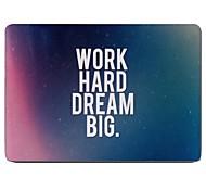 trabajar duro y soñar diseño grande de cuerpo completo estuche protector de plástico para el de 11 pulgadas / 13 pulgadas El nuevo iPad