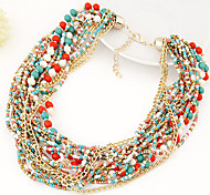 Necklace,Jewelry,European Style Multilayer Beads Strand Necklace