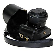 cámara protectora de cuero dengpin® cubierta de la bolsa caso con la correa de hombro para Sony Cyber-shot DSC-RX10 RX10