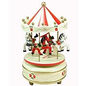 Marry-Go-Round 8 Sound  Wooden Music Box (Random Colour,Random Style)
