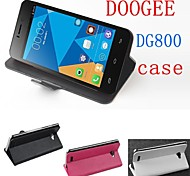 Fashion Leather Flip Case Cover for DooGee DG800 Lfet to Right Smartphone 3-color