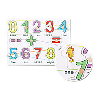 0-9 Número rompecabezas incrustado juguete educativo de madera