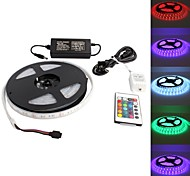 Waterproof 5M 300x5050 SMD RGB Light LED Strip Lamp with 24-Button Remote Controller Set (12V)