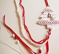Noël suspendus longues 1 pc materiels MDF de forme d'arbre blanc pour les décorations de Noël