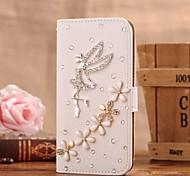 Diamant-Engel und Blumen-PU-Leder Ganzkörper-Case mit Ständer und Card Slot für Samsung Galaxy i9600 s5