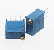3296 potenziometro 500ohm resistori regolabili - blu (10 pz)