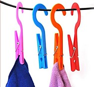 2 PCS Multifunctional Hook and Clamp(Random Color)