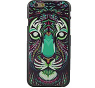Colorful Tigers Head Design Pattern Hard Cover for iPhone 6