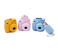 8GB Cartoon Camera Mini8 USB Flash Drive (Yellow,Blue,Pink)