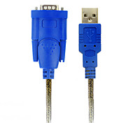 1.8M 5.904FT USB2.0 Male to RS232 9 Pin Male USB Cable Free Shipping
