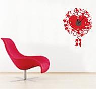 zooyoo® elektronischen Batteriezeitnehmer diy Herzform Wanduhr schwarz Wandaufkleberausgangsdekor für Sie Wohnzimmer