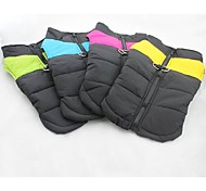 Dog Jacket / Vest Yellow / Green / Blue / Pink Dog Clothes Winter Solid Keep Warm / Windproof